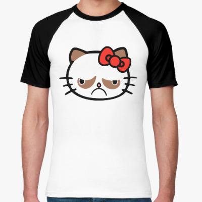 Футболка реглан Hello Grumpy Cat