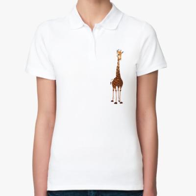 Женская рубашка поло Жираф