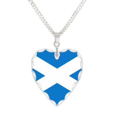 "Кулон 'сердце' Кулон -сердце ""Флаг Шотландии"""