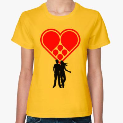 Женская футболка Любовная пара