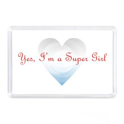 Магнит Yes, I'm a Super Girl. Крылья
