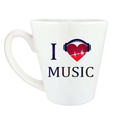 Чашка Латте Я люблю музыку