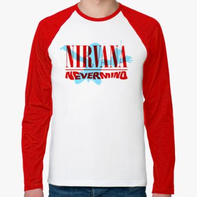 Футболка реглан с длинным рукавом Nirvana
