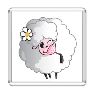 Магнит овечка с леденцом
