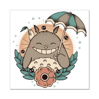 Наклейка (стикер) Smile Totoro
