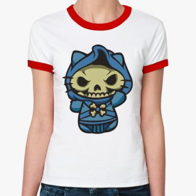 Женская футболка Ringer-T Kitty Скелетор