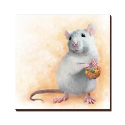 Декоративная крыса - рисунок