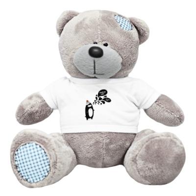 Плюшевый мишка Тедди Влюбленный Пингвин