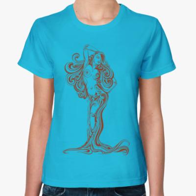 Женская футболка Дриада лесная нимфа