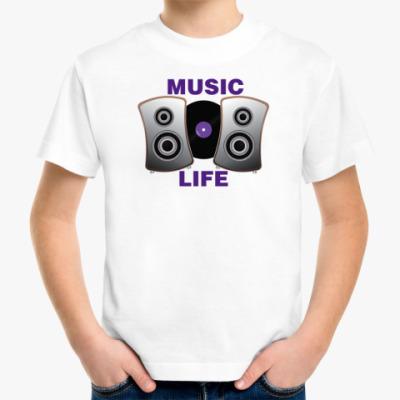 Детская футболка music life