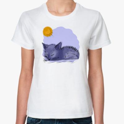 Классическая футболка 'Котенок'