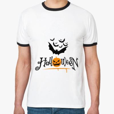 Футболка Ringer-T Хэллоуин