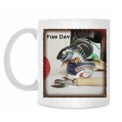 Кружка Рыбный день. Скумбрия