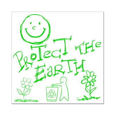 Наклейка (стикер) Green Planet