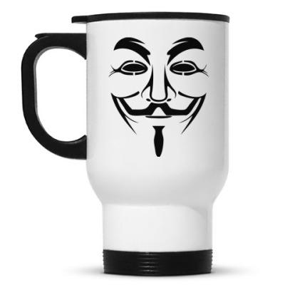 Кружка-термос Маска Анонимуса
