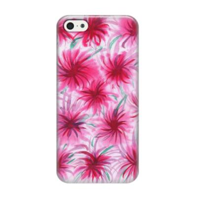 Чехол для iPhone 5/5s Цветочный принт 'Астры'