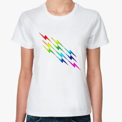 Классическая футболка  Молния