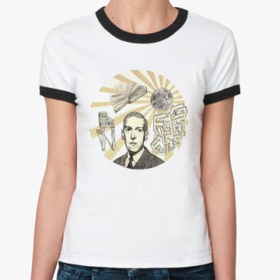 Женская футболка Ringer-T Говард Филлипс Лавкрафт