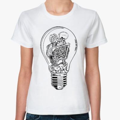 Классическая футболка сияние монохром