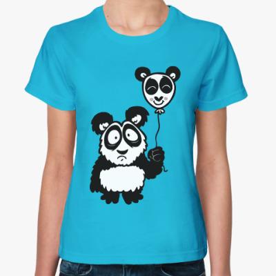 Женская футболка Панда с шариком
