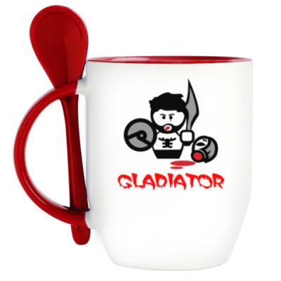 Кружка с ложкой Гладиатор