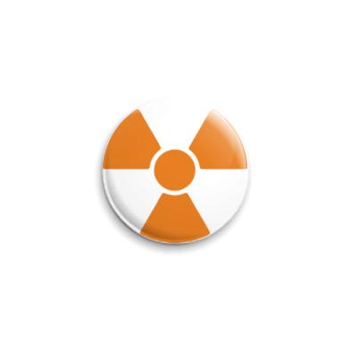 Значок 25мм radioactive