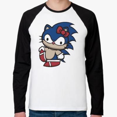 Футболка реглан с длинным рукавом Kitty Sonic