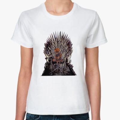 Классическая футболка Лисица на троне