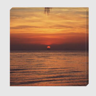 Холст Закат солнца на острове / Island sunset