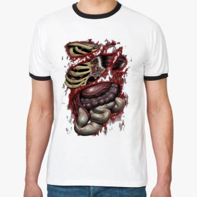Футболка Ringer-T Zombie guts