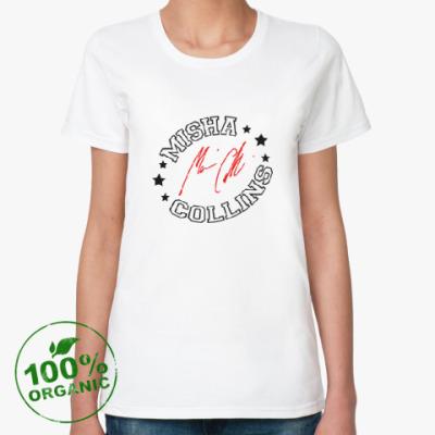 Женская футболка из органик-хлопка Миша Коллинз - Supernatural