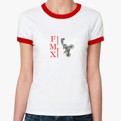 Женская футболка Ringer-T мотофристайл