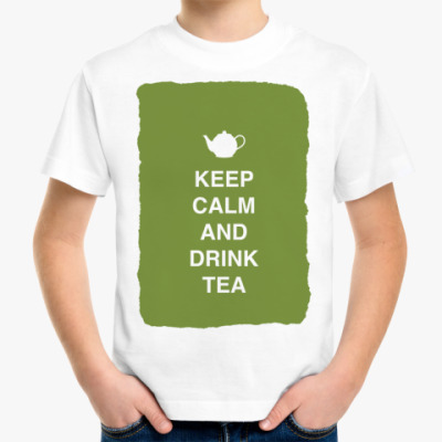 Детская футболка Keep calm and drink tea