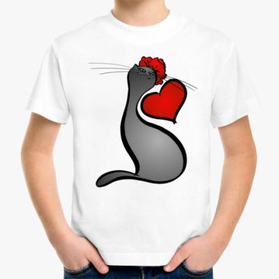 Детская футболка Сердечная Кошка