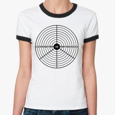 Женская футболка Ringer-T Пацифик-мишень