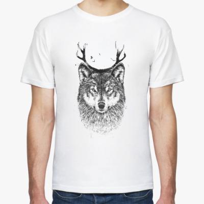 Футболка Волк с рогами
