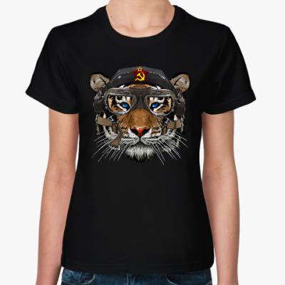 Женская футболка Тигр