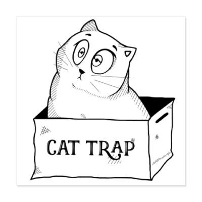 Виниловые наклейки Ловушка для кота