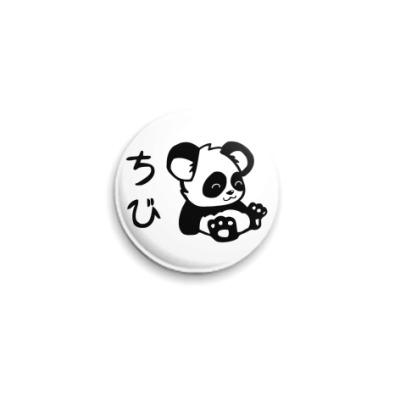 Значок 25мм Panda  25 мм