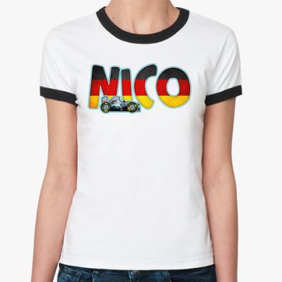 Женская футболка Ringer-T  NICO
