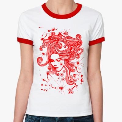 Женская футболка Ringer-T Горгона