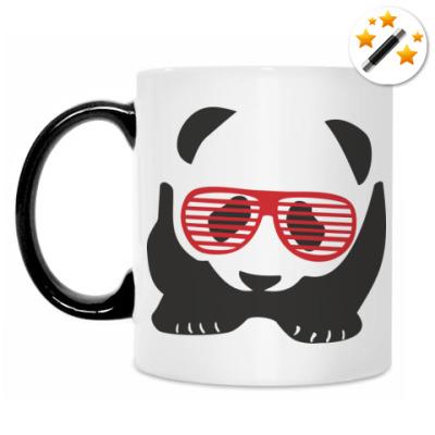 Кружка-хамелеон Панда в очках