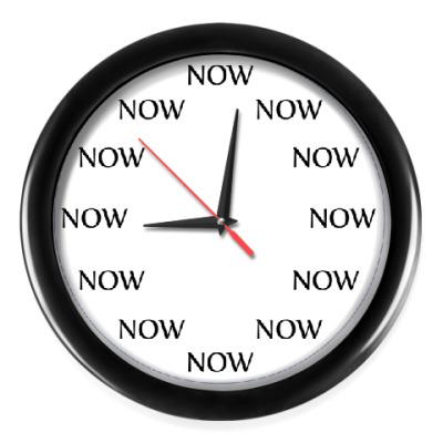 Настенные часы NOW (Сейчас - каждый час)