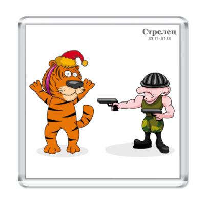 Магнит Новогодний тигр и Стрелец