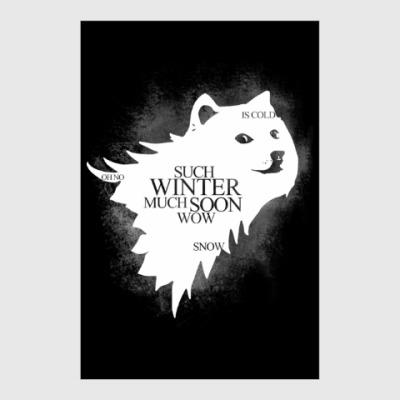 Постер Doge Stark