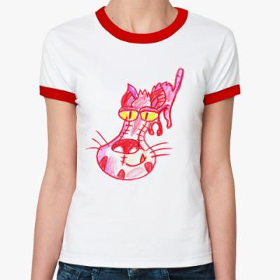 Женская футболка Ringer-T FrankenDog
