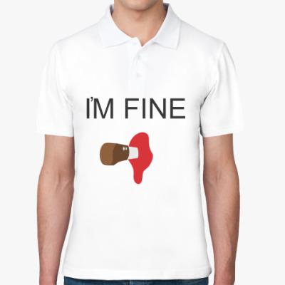 Рубашка поло  Im fine
