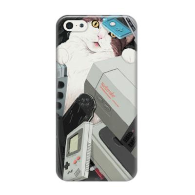 Чехол для iPhone 5/5s Meow (Console Cat)
