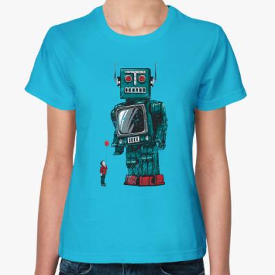 Женская футболка Робот