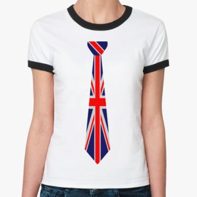 Женская футболка Ringer-T Галстук